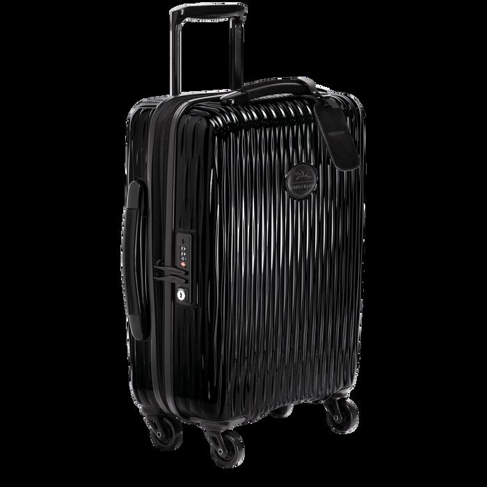 Koffer voor handbagage, Zwart/Ebbenhout - Weergave 2 van  3 - Meer inzoomen.