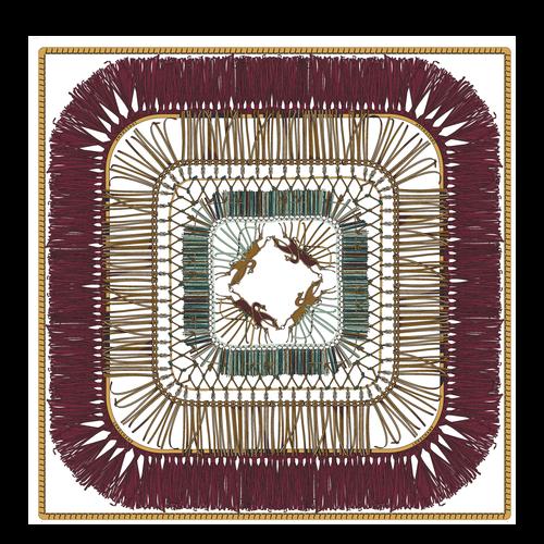 絲質圍巾, 深紫色, hi-res - 1 的視圖 1
