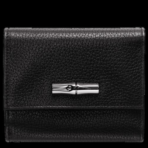 Portefeuille compact, Noir, hi-res - Vue 1 de 2