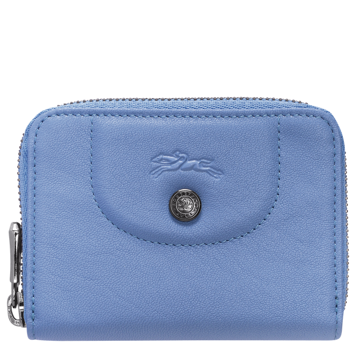 Zipped card holder, Blue, hi-res - View 1 of 2