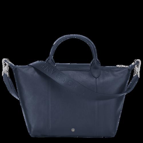 Top handle bag M Le Pliage Cuir Navy (L1515757556) | Longchamp GB