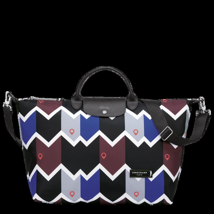 Reisetasche L, Mahagoni/Blau - Ansicht 1 von 3 - Zoom vergrößern
