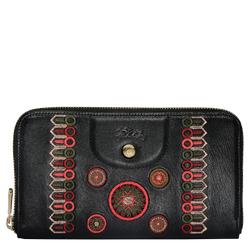 Zip around wallet, D95 Black/Fig/Khaki, hi-res