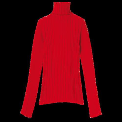 Herbst-Winter-Kollektion 2021 Pullover, Rot Kiss