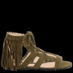 Flat sandals, A23 Khaki, hi-res