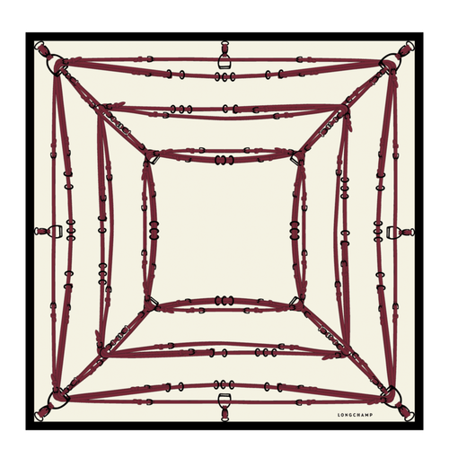 Silk scarf, D68 Wool, hi-res