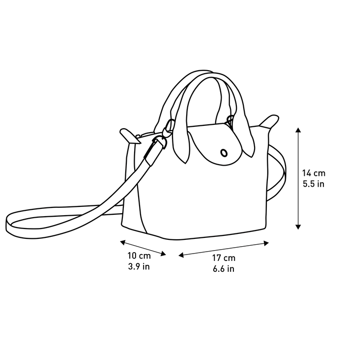 Top handle bag XS, Navy - View 4 of  5 - zoom in