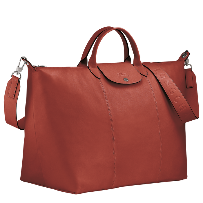 Le Pliage Cuir Travel bag L, Sienna