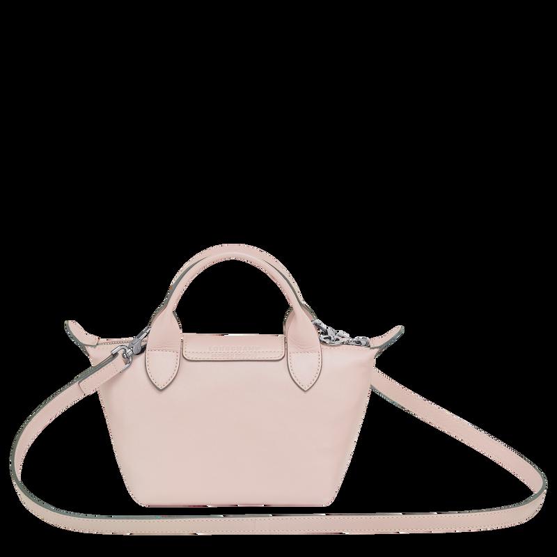 Le Pliage Cuir Top handle bag XS, Pale pink