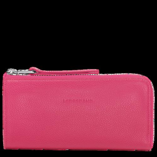 Lange Geldbörse mit Reissverschluss, Pink, hi-res - View 1 of 1