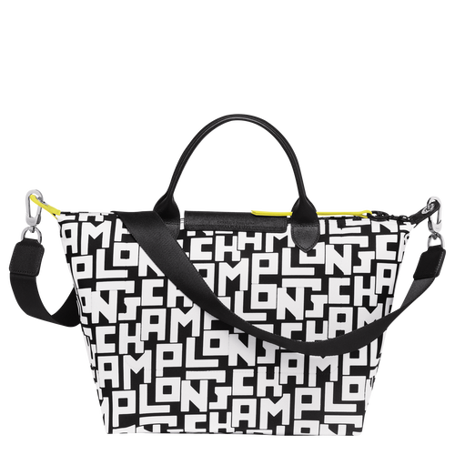 Top handle bag M, Black/White - View 3 of 4 -