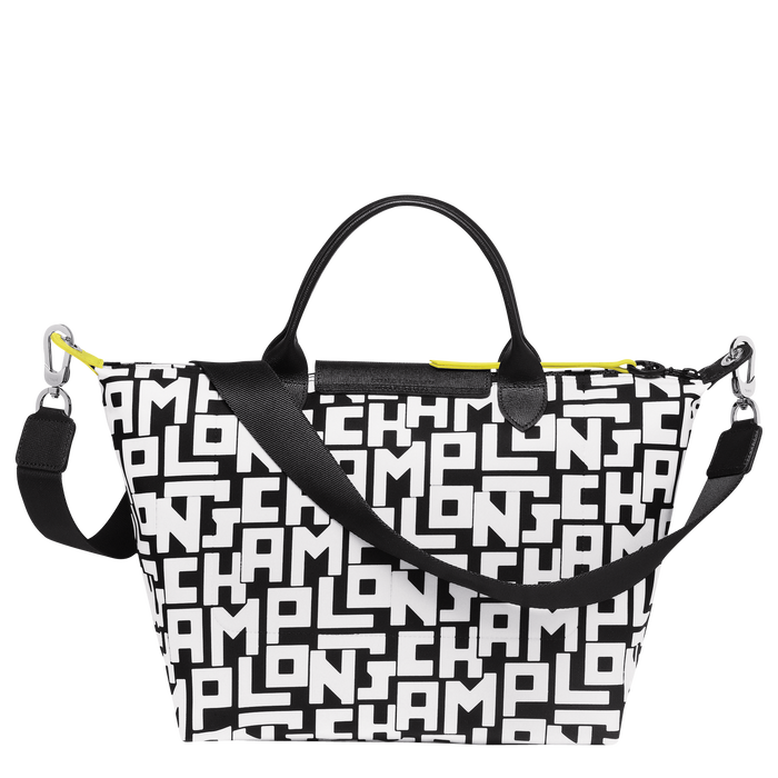 Top handle bag M, Black/White - View 3 of 4 - zoom in