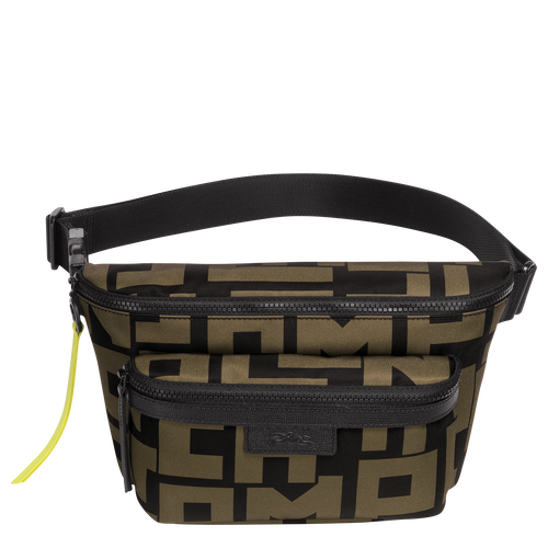 Belt bag L, Black/Khaki, hi-res - View 1 of 2