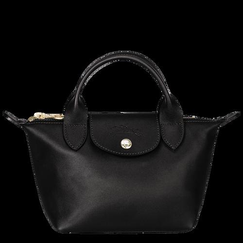 View 1 of Mini top-handle bag, Black, hi-res