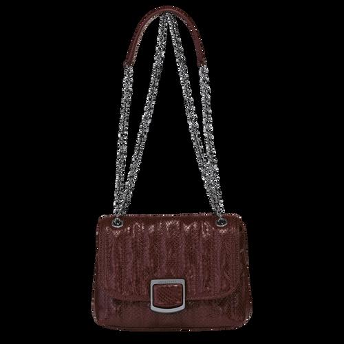 Brioche Crossbody bag S, Burgundy