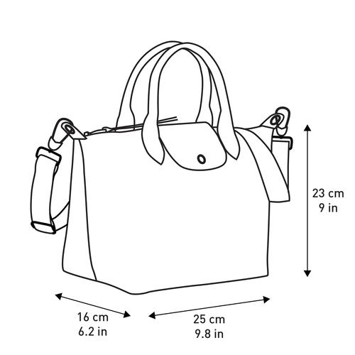 Tas met handgreep aan de bovenkant S, Marineblauw - Weergave 4 van  4 -