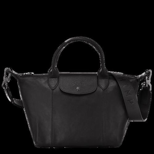 Le Pliage Cuir Handtasche S, Schwarz