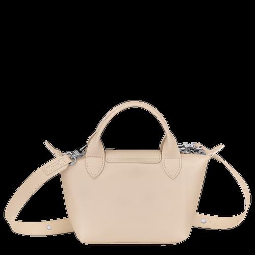 Mini top-handle bag, Chalk, hi-res - View 3 of 3
