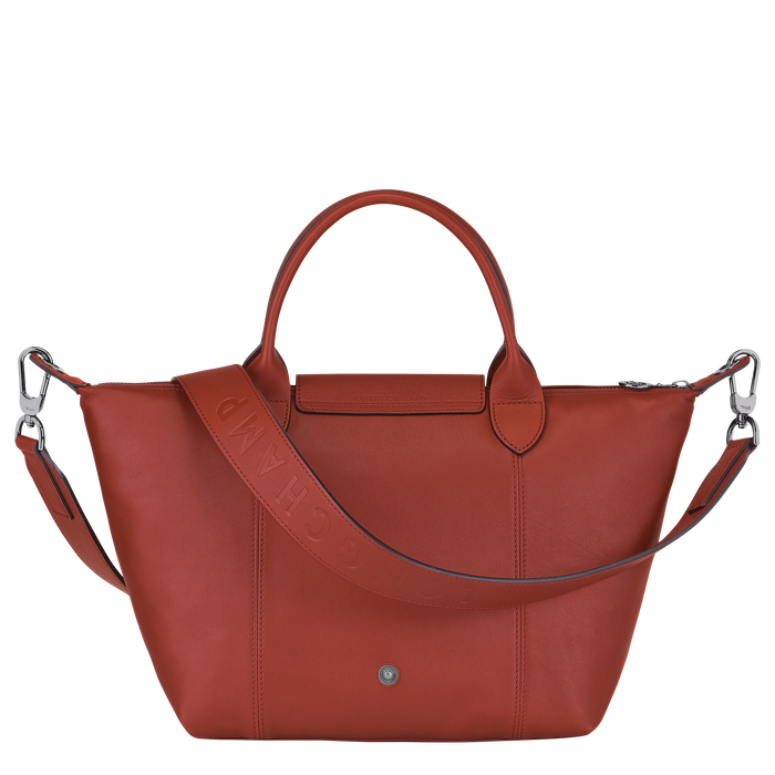 Le Pliage Cuir Top handle bag S, Sienna
