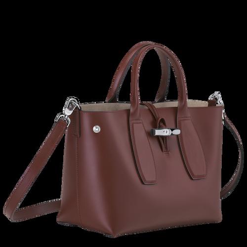 Roseau Top handle bag M, Mahogany