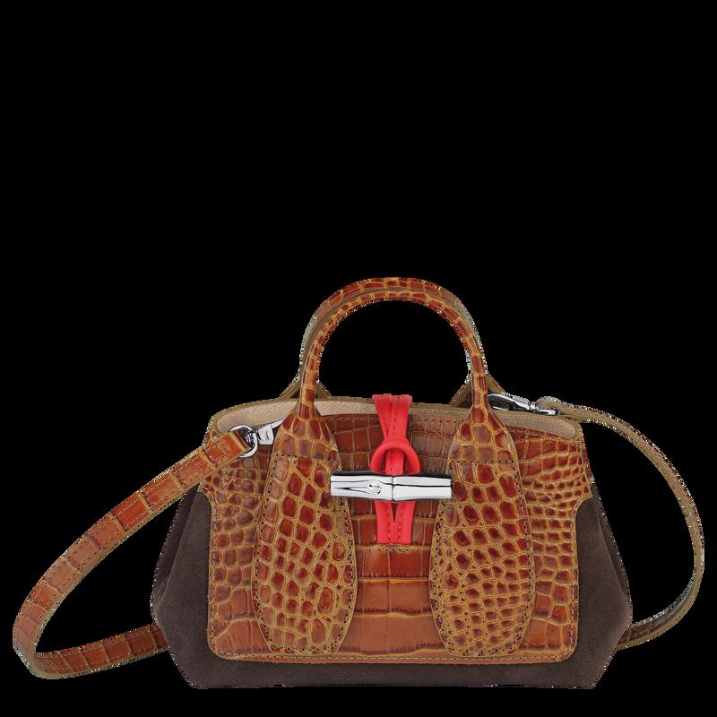 Roseau Top handle bag XS, Cognac