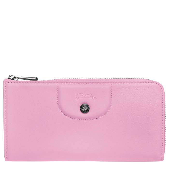 Long zip around wallet, Pink, hi-res - View 1 of 2