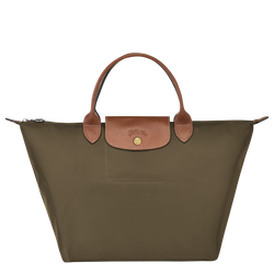 Top handle bag M, Khaki