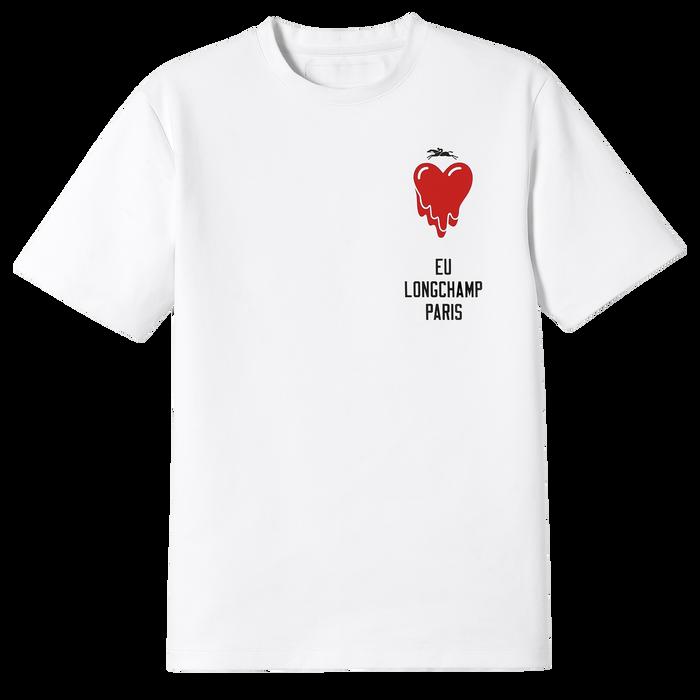 Longchamp x EU T-shirt, Blanc