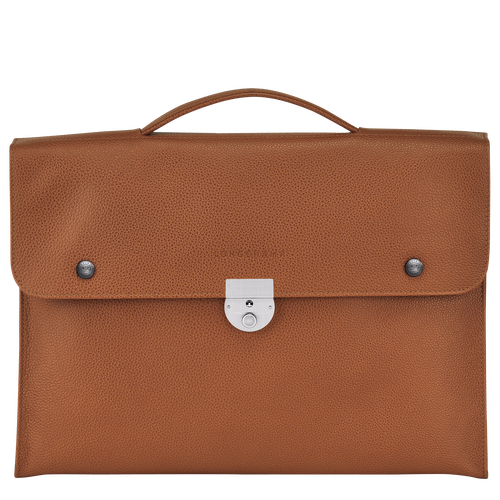 View 1 of Briefcase S, Caramel, hi-res
