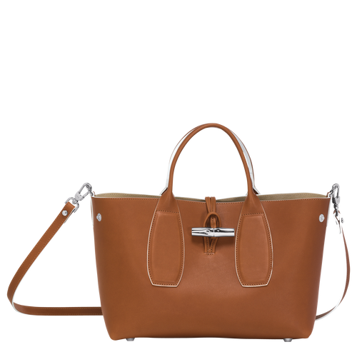 Top handle bag M, Cognac - View 2 of  5 -