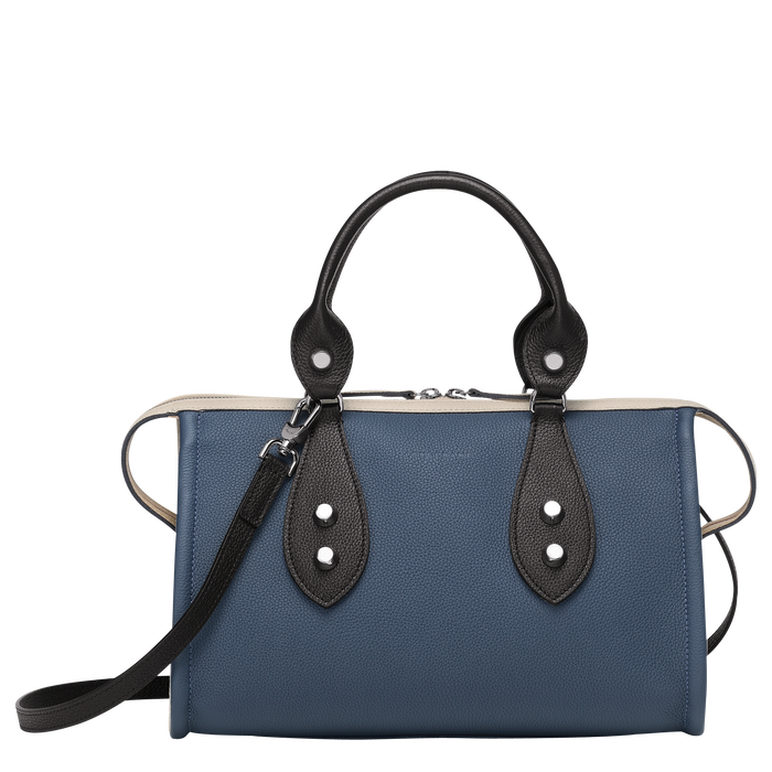 Top handle bag, Pilot Blue/Black/Chalk, hi-res - View 1 of 3