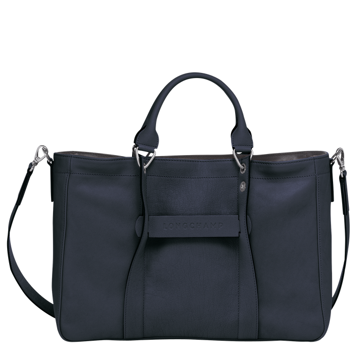 Top handle bag M, Midnight blue - View 1 of  3 - zoom in