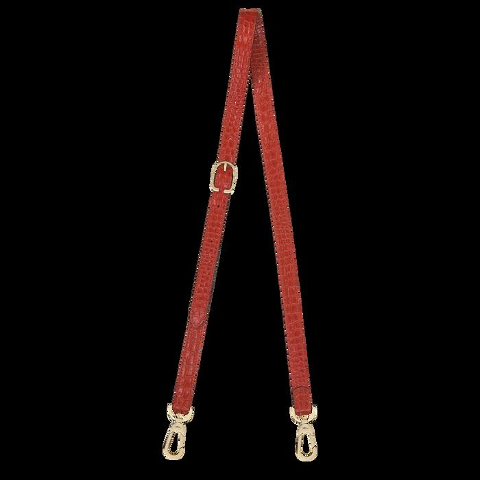 Longchamp 1980 Leather shoulder strap, Red