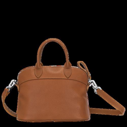 Le Foulonné Top handle bag S, Caramel