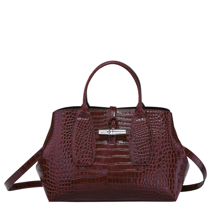 Top handle bag M, Burgundy - View 1 of  4 - zoom in