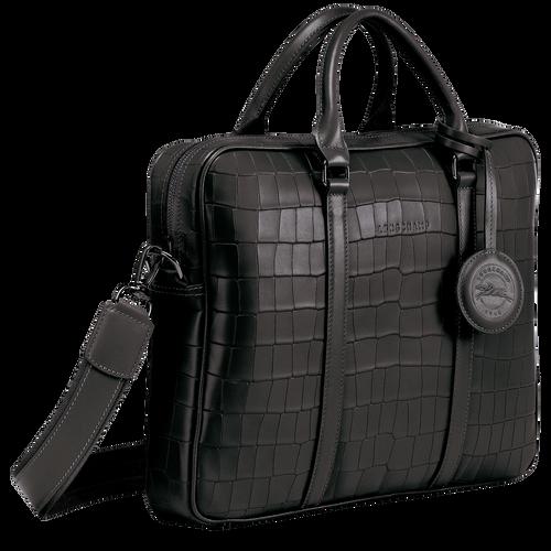 Porte-documents XS Croco Block Noir (L2121945001) | Longchamp FR