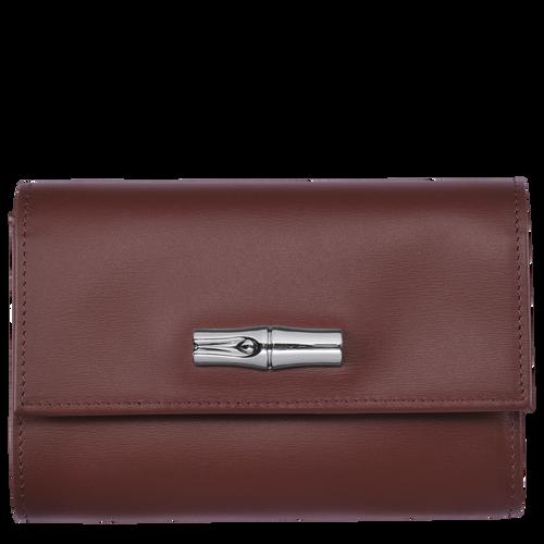 Portefeuille compact, Acajou - Vue 1 de 2 -