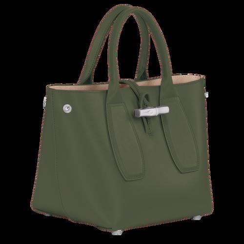 Bolso con asa superior, Verde Oscuro - Vista 3 de 4 -