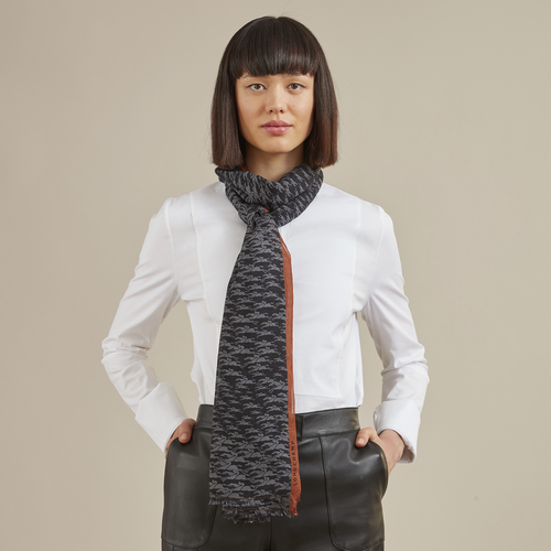 Fall-Winter 2021 Collection Ladies' stole, Navy
