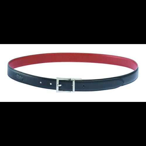 Women's belt, Black/Brick, hi-res - View 1 of 1