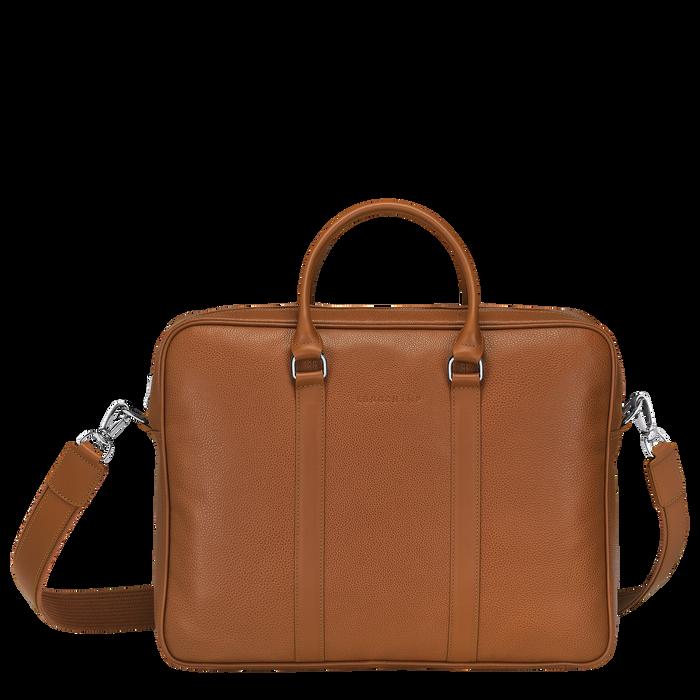 Le Foulonné Briefcase M, Caramel