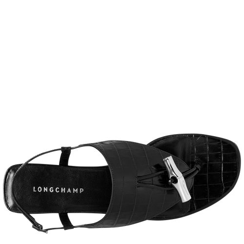 Flat sandals, Black - View 3 of  3 -