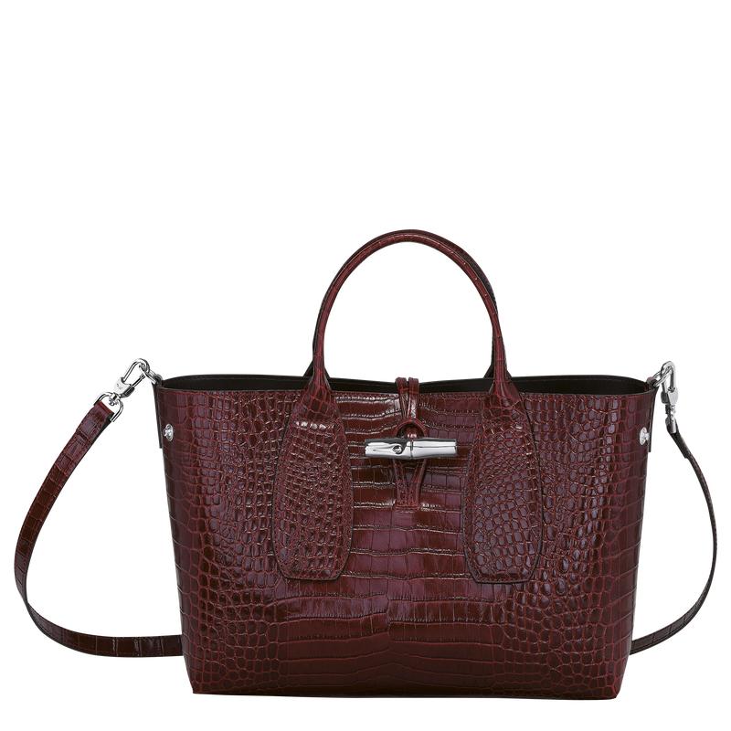 Top handle bag M, Burgundy - View 2 of  4 - zoom in