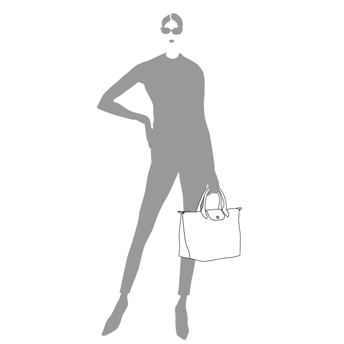 Le Pliage Club Handtasche M, Schwarz