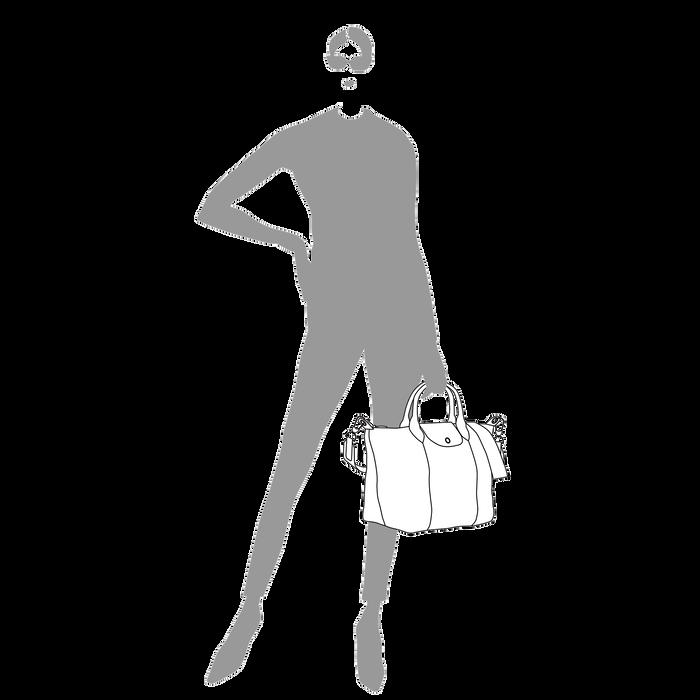 Tas met handgreep aan de bovenkant M, Lichtroze - Weergave 8 van  8.0 - Meer inzoomen.