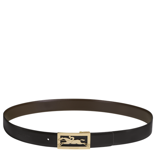 Men's belt, Black/Mocha - View 1 of  1 -