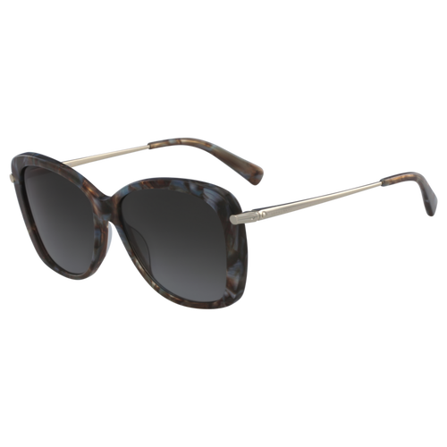Sunglasses, Marble Brown Azure, hi-res - View 2 of 2
