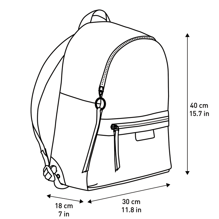 Le Pliage LGP Backpack M, Black/White