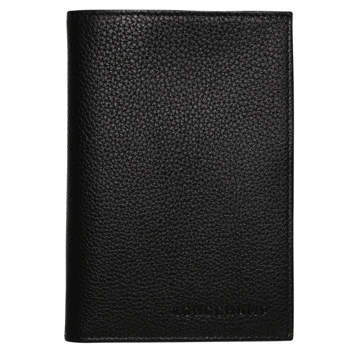 Passport cover, Black, hi-res - View 1 of 2