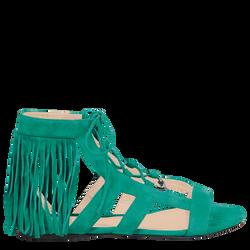 Flat sandals, D91 Emerald, hi-res